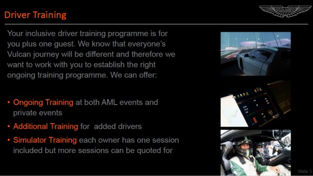 Aston Martin Vulcan – Service, Support Events Overview (3)