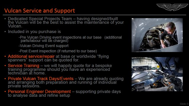 Aston Martin Vulcan – Service, Support Events Overview (4)