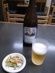 ビール、付け出し@尾張屋本店