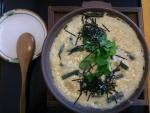 出汁玉子の陶板焼き@蕎麦花