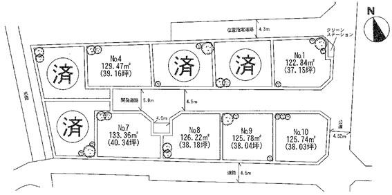 飯泉10区画図