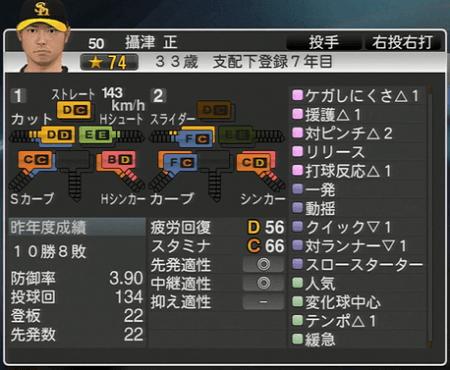 摂津正 プロ野球スピリッツ2015 ver1.10