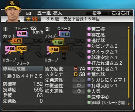 五十嵐亮太 プロ野球スピリッツ2015 ver1.10