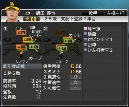 飯田雄也 プロ野球スピリッツ2015 ver1.10