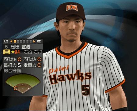 松田 宣浩 プロ野球スピリッツ2015 ver1.10