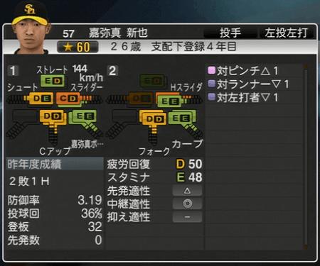 嘉弥真新也 プロ野球スピリッツ2015 ver1.10