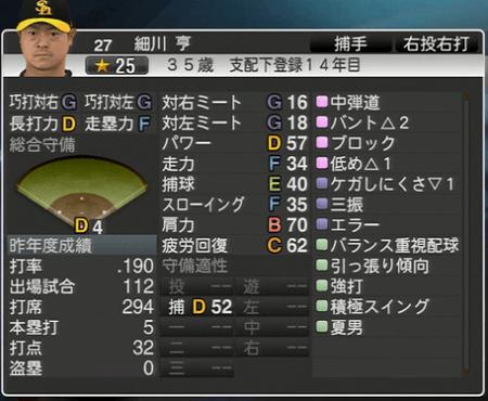 細川 亨 プロ野球スピリッツ2015 ver1.10