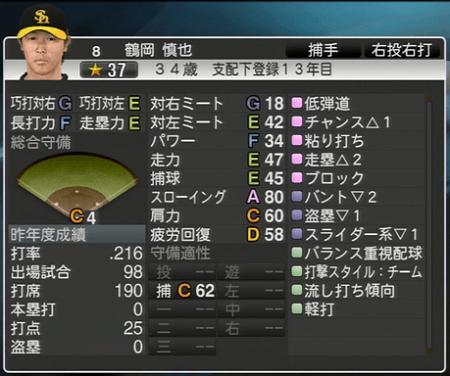 鶴岡 慎也 プロ野球スピリッツ2015 ver1.10