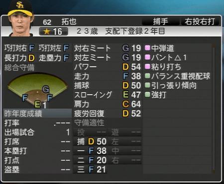 拓也 プロ野球スピリッツ2015 ver1.10