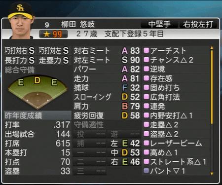 柳田 悠岐 プロ野球スピリッツ2015 ver1.10
