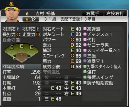 吉村 裕基 プロ野球スピリッツ2015 ver1.10