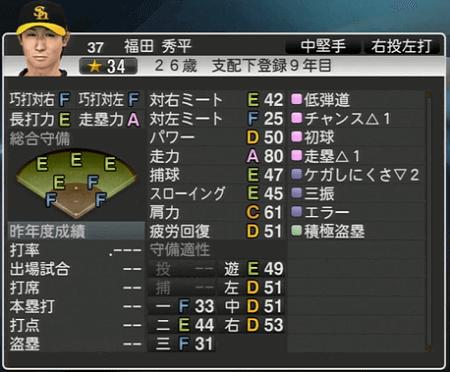 福田 秀平 プロ野球スピリッツ2015 ver1.10