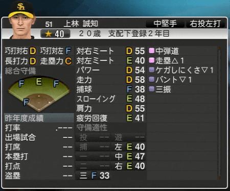 上林 誠知 プロ野球スピリッツ2015 ver1.10