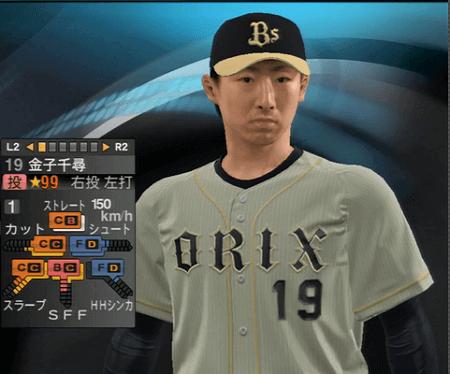 金子 千尋 プロ野球スピリッツ2015 ver1.10