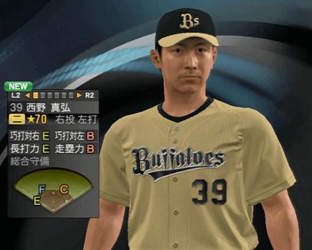 西野 真弘 プロ野球スピリッツ2015 ver1.10