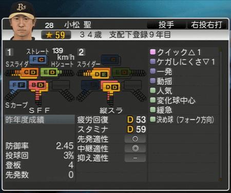 小松 聖 プロ野球スピリッツ2015 ver1.10
