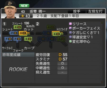 坂寄 晴一 プロ野球スピリッツ2015 ver1.10