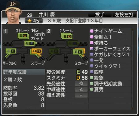 井川 慶 プロ野球スピリッツ2015 ver1.10