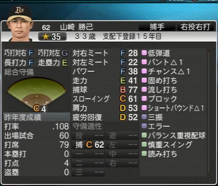 山崎 勝己 プロ野球スピリッツ2015 ver1.10