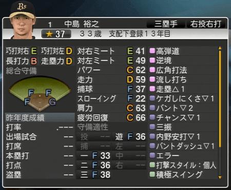 中島 裕之 プロ野球スピリッツ2015 ver1.10