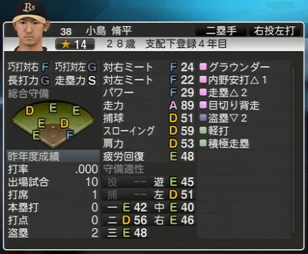 小島 脩平 プロ野球スピリッツ2015 ver1.10