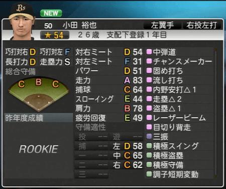 小田 裕也 プロ野球スピリッツ2015 ver1.10