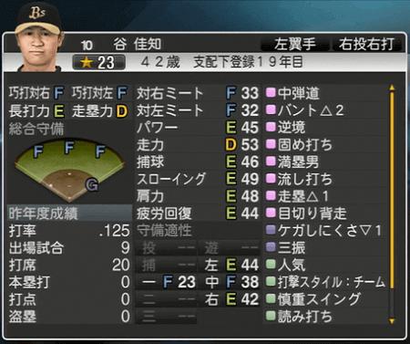 谷 佳知 プロ野球スピリッツ2015 ver1.10