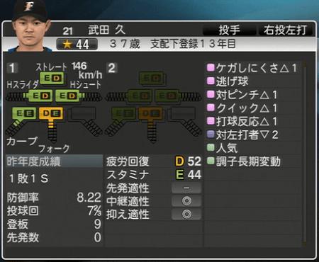 武田 久 プロ野球ス ピリッツ2015 ver1.10