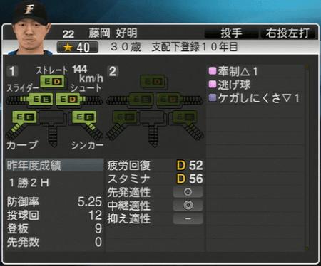 藤岡 好明 プロ野球スピリッツ2015 ver1.10