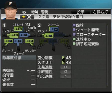 増渕 竜義 プロ野球スピリッツ2015 ver1.10