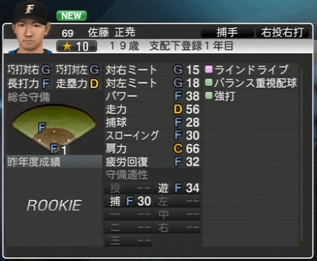 佐藤 正尭 プロ野球スピリッツ2015 ver1.10