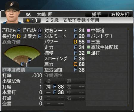 大嶋 匠 プロ野球スピリッツ2015 ver1.10
