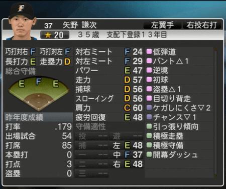 矢野 謙次 プロ野球スピリッツ2015 ver1.10