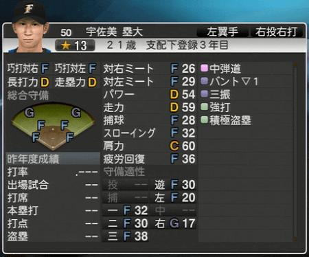 宇佐美 塁大 プロ野球スピリッツ2015 ver1.10