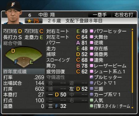 中田 翔 プロ野球スピリッツ2015 ver1.10