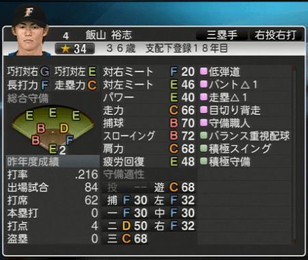 飯山 裕志 プロ野球スピリッツ2015ver1.10