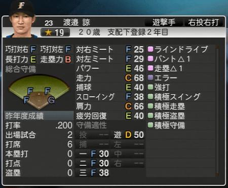 渡邉 諒 プロ野球スピリッツ2015ver1.10