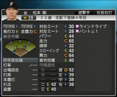 松本 剛 プロ野球スピリッツ2015ver1.10