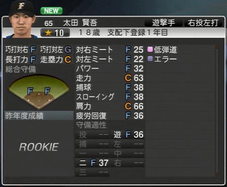 太田 賢吾 プロ野球スピリッツ2015ver1.10