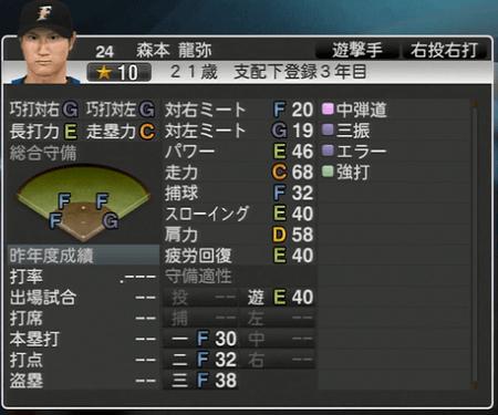 森本 龍弥 プロ野球スピリッツ2015ver1.10