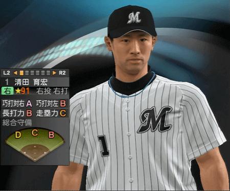 清田 育宏 プロ野球スピリッツ2015 ver1.10