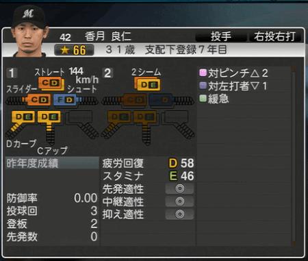 香月 良仁 プロ野球スピリッツ2015ver1.10