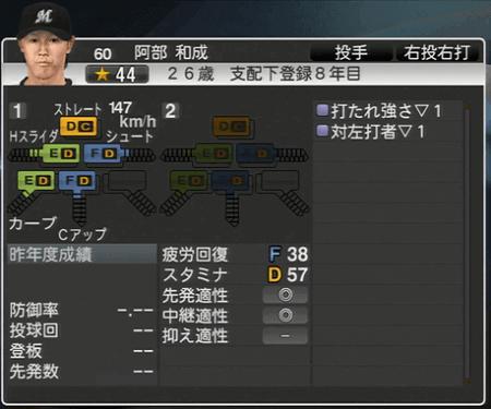 阿部 和成 プロ野球スピリッツ2015ver1.10