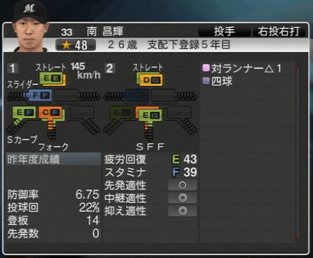 南 昌輝 プロ野球スピリッツ2015 ver1.10