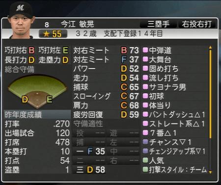 今江 敏晃  プロ野球スピリッツ2015 ver1.10