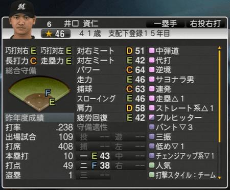 井口 資仁 プロ野球スピリッツ2015 ver1.10