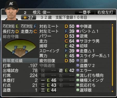 根元 俊一 プロ野球スピリッツ2015 ver1.10