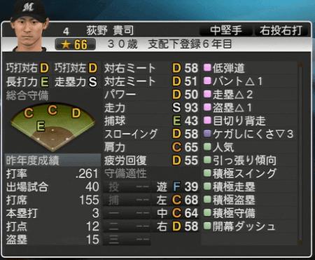 荻野 貴司 プロ野球スピリッツ2015 ver1.10