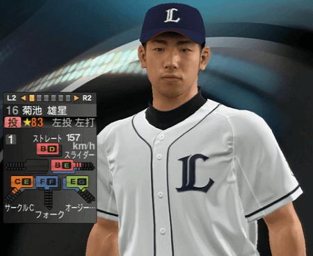 菊池 雄星 プロ野球スピリッツ2015 ver1.10