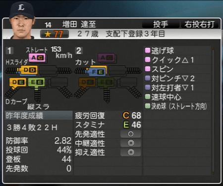 増田 達至 プロ野球スピリッツ2015 ver1.10